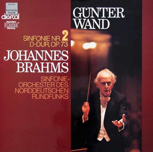 ヴァントのブラームス/交響曲第2番  独HM 3210 LP レコード