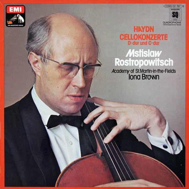 ロストロポーヴィチのハイドン/チェロ協奏曲第1&2番 独EMI 3210 LP レコード