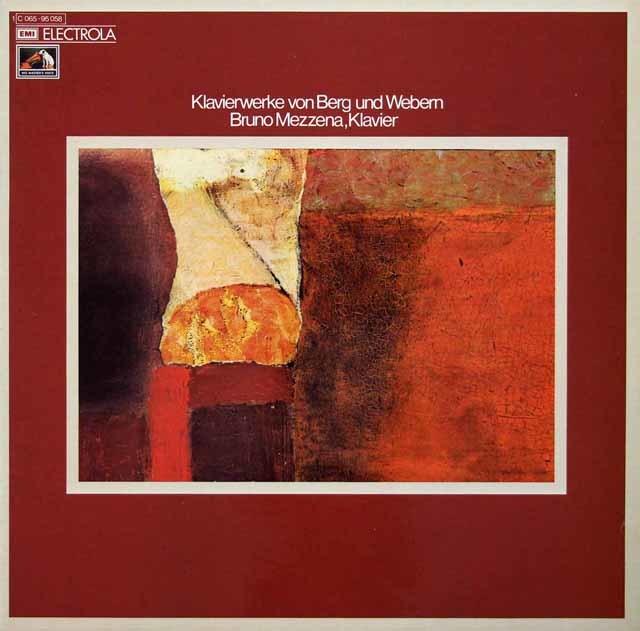 メッツェーナのベルク&ウェーベルン/ピアノ作品集 独ELECTROLA 3210 LP レコード