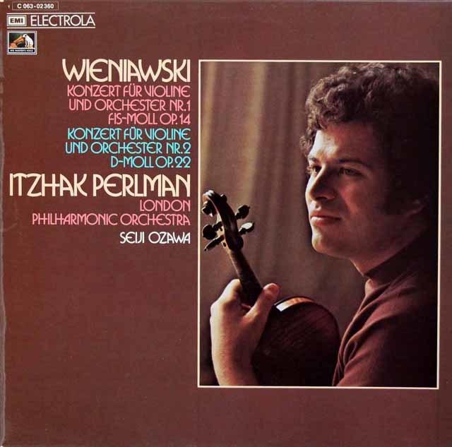 パールマン&小澤のヴィエニャフスキ/ヴァイオリン協奏曲第1&2番 独EMI 3210 LP レコード