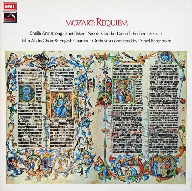 バレンボイムのモーツァルト/レクイエム 英EMI 3210 LP レコード