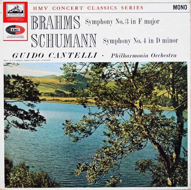 カンテッリのブラームス/交響曲第3番ほか 英EMI 3210 LP レコード