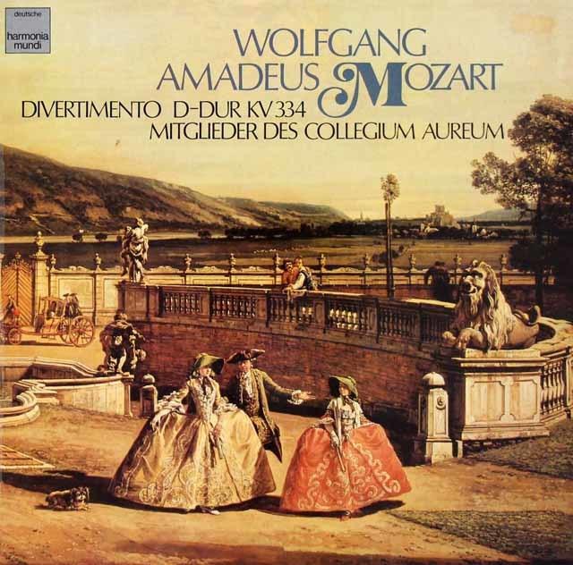 コレギウム・アウレウムのモーツァルト/ディヴェルティメント第17番 独HM 3210 LP レコード