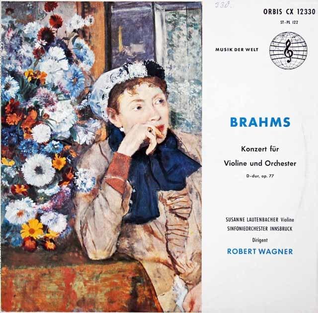 ラウテンバッハーのブラームス/ヴァイオリン協奏曲  独ORBIS 3210 LP レコード