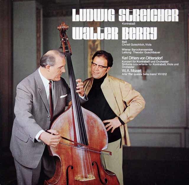 シュトライヒャーのディッタースドルフ/コントラバス協奏曲ほか オーストリアAMADEO 3210 LP レコード