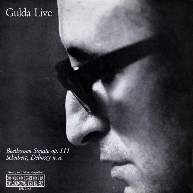 グルダライヴ:ベートーヴェン/ピアノソナタ第32番ほか オーストリアPREISER RECORDS 3210 LP レコード
