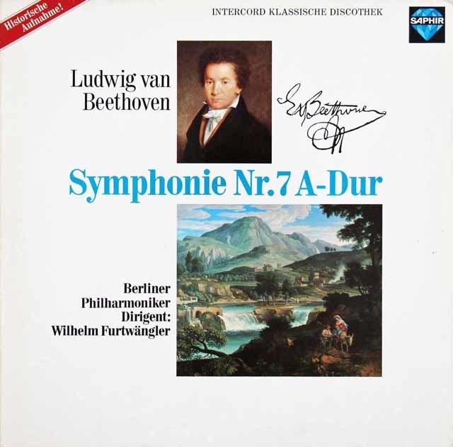 フルトヴェングラーのベートーヴェン/交響曲第7番 独SAPHIR 3210 LP レコード