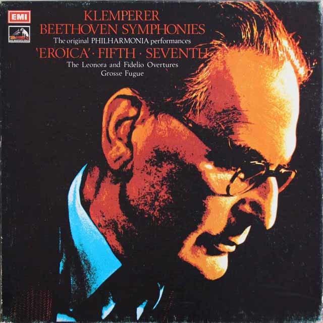 クレンペラーのベートーヴェン/交響曲第3、5、7番ほか 英EMI 3210 LP レコード