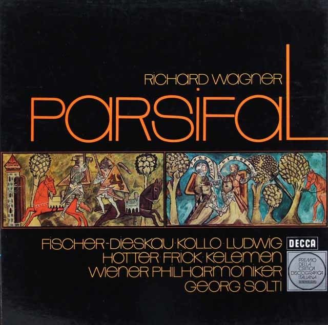 ショルティのワーグナー/「パルジファル」全曲 独DECCA 3210 LP レコード