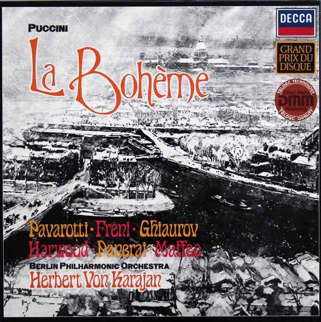 カラヤンのプッチーニ/「ボエーム」全曲 独DECCA 3210 LP レコード