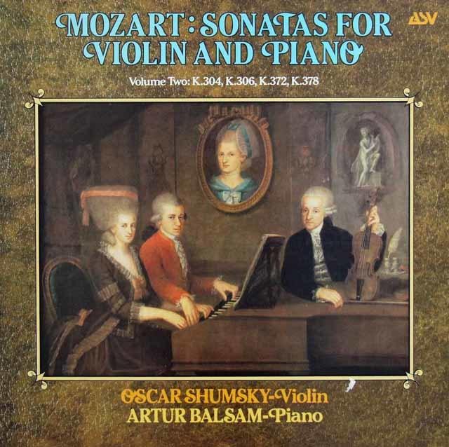シュムスキー&バルサムのモーツァルト/ヴァイオリンソナタ第21番ほか 英ASV 3211 LP レコード