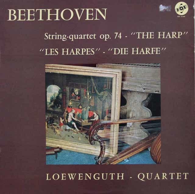 レーヴェングート四重奏団のベートーヴェン/弦楽四重奏曲第10番「ハープ」 仏VOX 3211 LP レコード