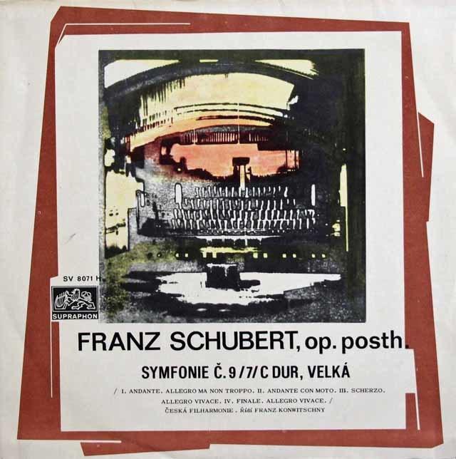 コンヴィチュニーのシューベルト/交響曲第9番「グレイト」 チェコスロヴァキアSUPRAPHON 3211 LP レコード