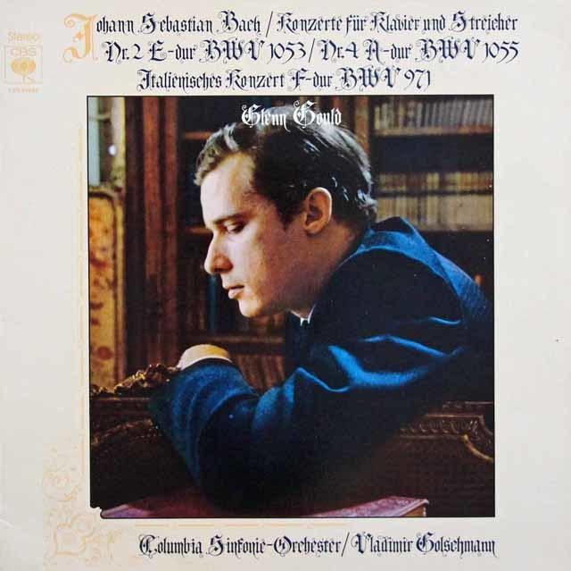グールドのバッハ/ピアノ協奏曲第2&4番 独CBS 3211 LP レコード