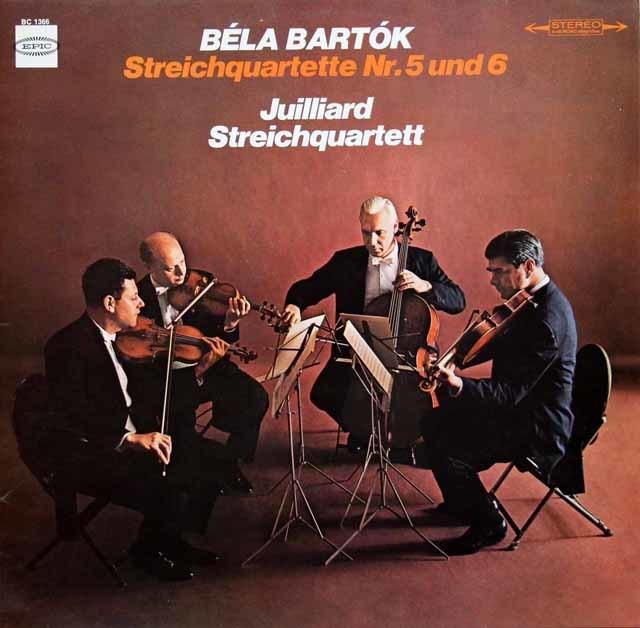 ジュリアード四重奏団のバルトーク/弦楽四重奏曲第5&6番 独EPIC 3211 LP レコード