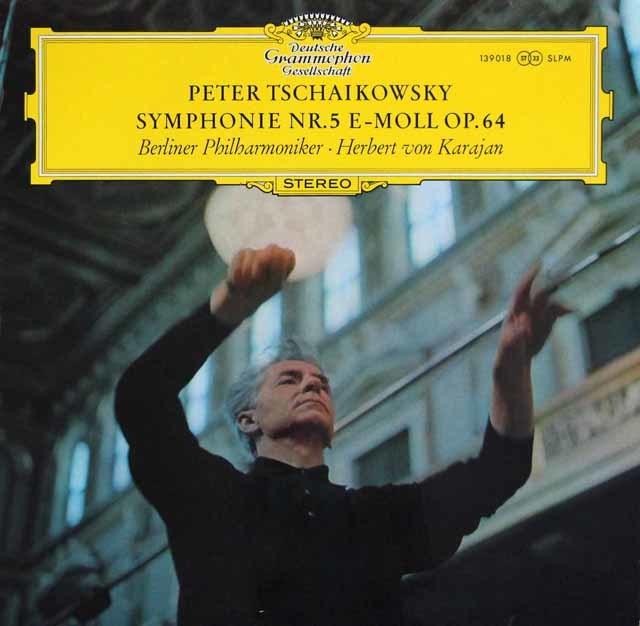 カラヤンのチャイコフスキー/交響曲第5番  独DGG 3211 LP レコード