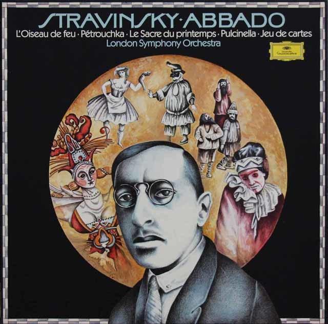 アバドのストラヴィンスキー/バレエ音楽集 独DGG 3211 LP レコード