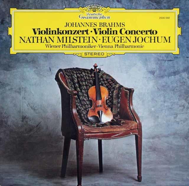 ミルシュタイン&ヨッフムのブラームス/ヴァイオリン協奏曲 独DGG 3211 LP レコード