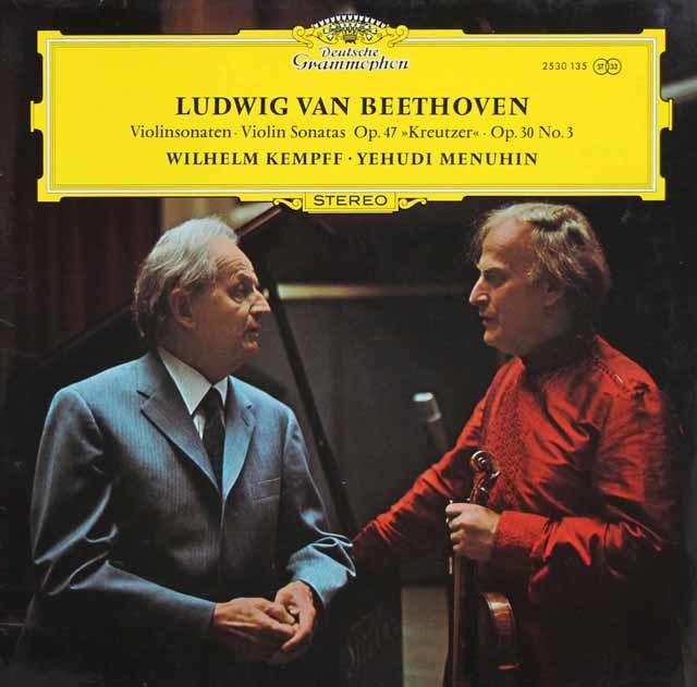 メニューイン&ケンプのベートーヴェン/「クロイツェル」ほか 独DGG 3211 LP レコード
