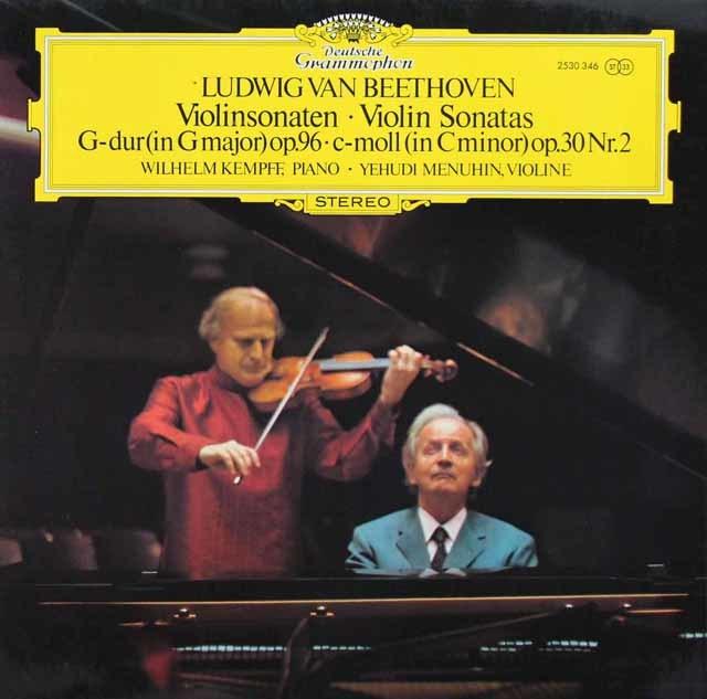 メニューイン&ケンプのベートーヴェン/ヴァイオリン・ソナタ第7、10番 独DGG 3211 LP レコード