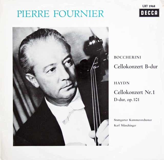 フルニエ&ミュンヒンガーのハイドン&ボッケリーニ/チェロ協奏曲集 独DECCA 3211 LP レコード