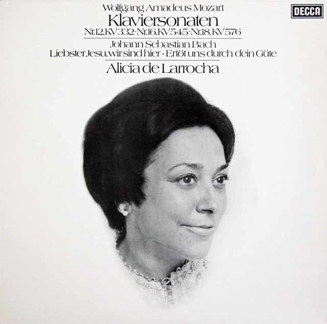 ラローチャのモーツァルト/ピアノソナタ第12,16&18番ほか 独DECCA 3211 LP レコード