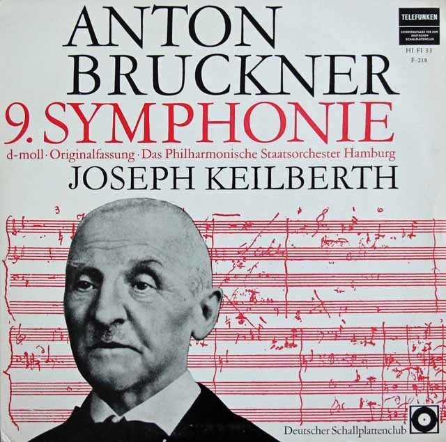 カイルベルトのブルックナー/交響曲第9番  独telefunken  3211 LP レコード
