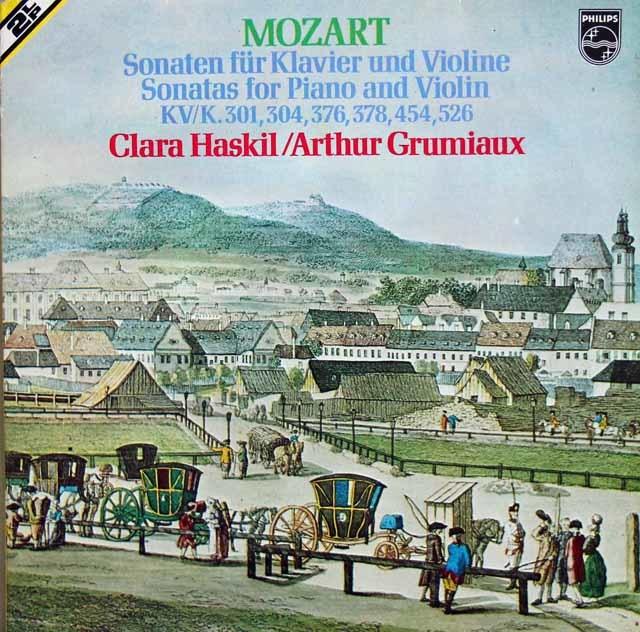 グリュミオー&ハスキルのモーツァルト/ヴァイオリン・ソナタ集 蘭PHILIPS 3211 LP レコード