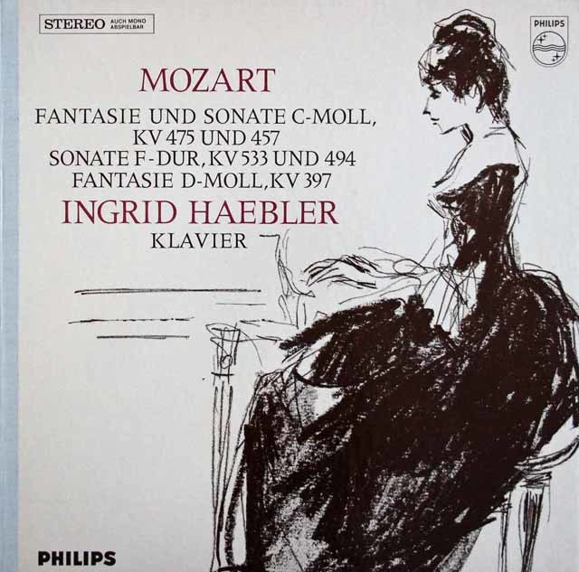 へブラーのモーツァルト/幻想曲、ピアノソナタ第14・15番ほか 蘭PHILIPS  3211  LP レコード