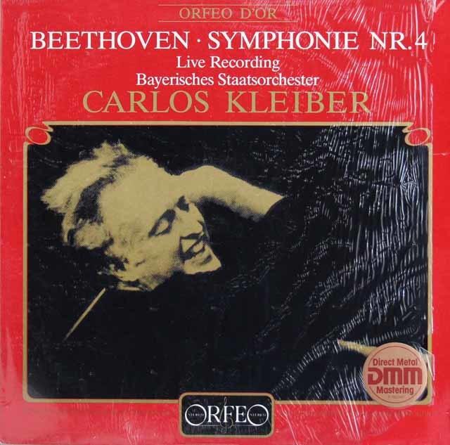 クライバーのベートーヴェン/交響曲第4番 独ORFEO 3211 LP レコード