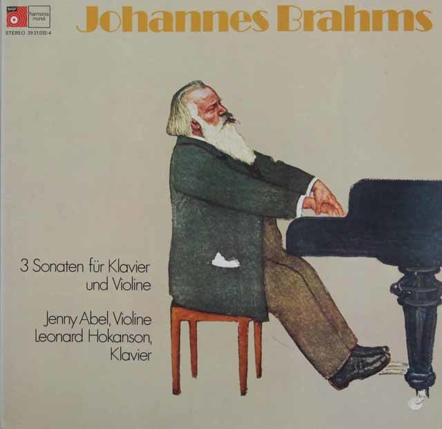 アベル&ホカンソンのブラームス/ヴァイオリンソナタ集 独HM 3211 LP レコード