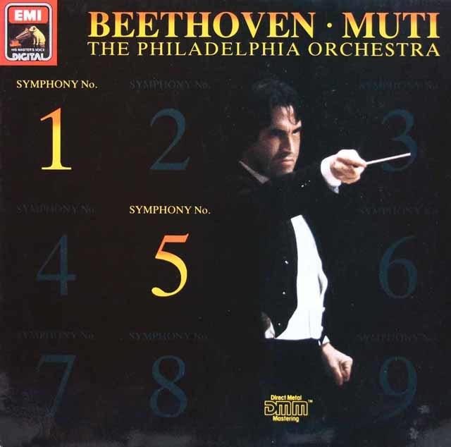ムーティのベートーヴェン/交響曲第1、5番「運命」 独EMI 3211 LP レコード