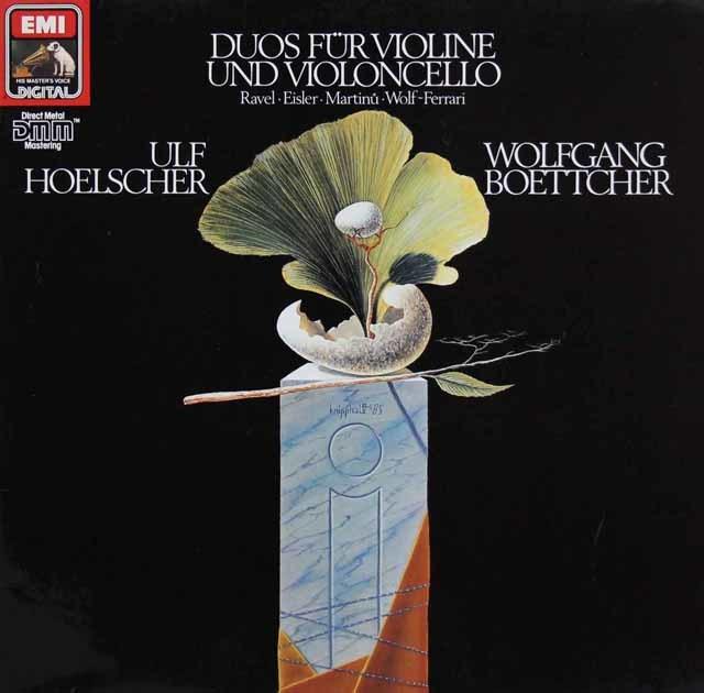 ヘルシャー&ベッチャー/ヴァイオリン&チェロ・デュオ集 独EMI 3211 LP レコード