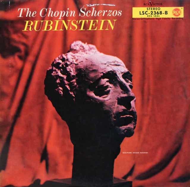 ルービンシュタインのショパン/スケルツォ集  独RCA 3211 LP レコード