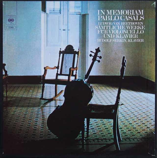 カザルスのベートーヴェン/チェロソナタ全集 独CBS 3211 LP レコード