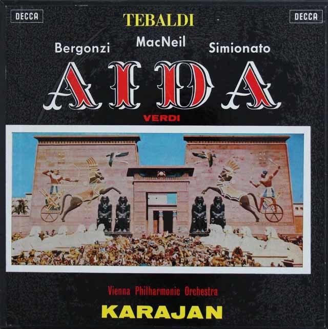カラヤンのヴェルディ/「アイーダ」 英DECCA 3211 LP レコード