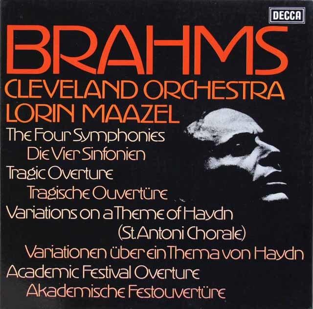 【オリジナル盤】 マゼールのブラームス/交響曲全集 英DECCA 3211 LP レコード