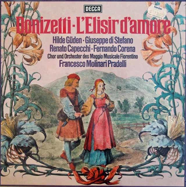 【未開封】 プラデッリのドニゼッティ/「愛の妙薬」 独DECCA 3211 LP レコード