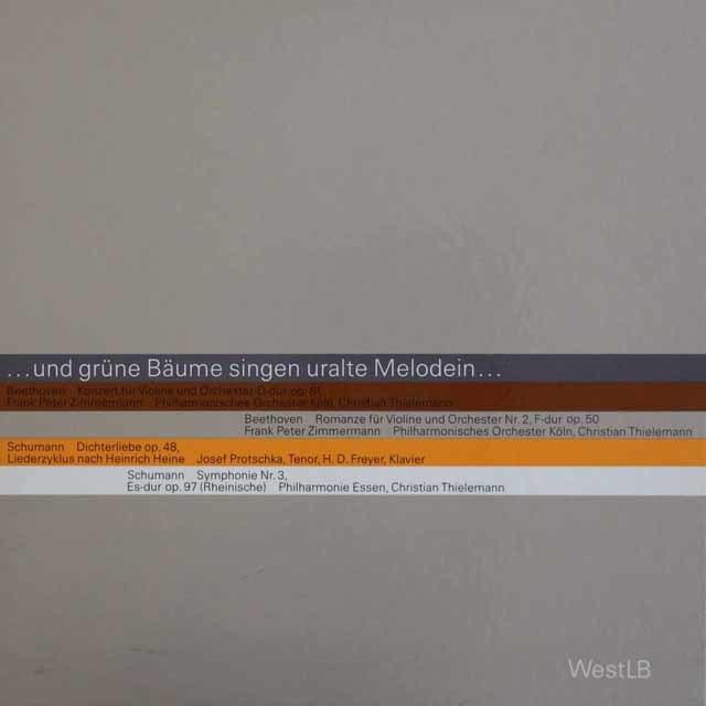 【非売品】 ティーレマンのシューマン/交響曲第3番「ライン」ほか 独WestLB 3211 LP レコード