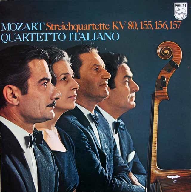イタリア四重奏団のモーツァルト/弦楽四重奏曲第1~4番 蘭PHILIPS 3212 LP レコード