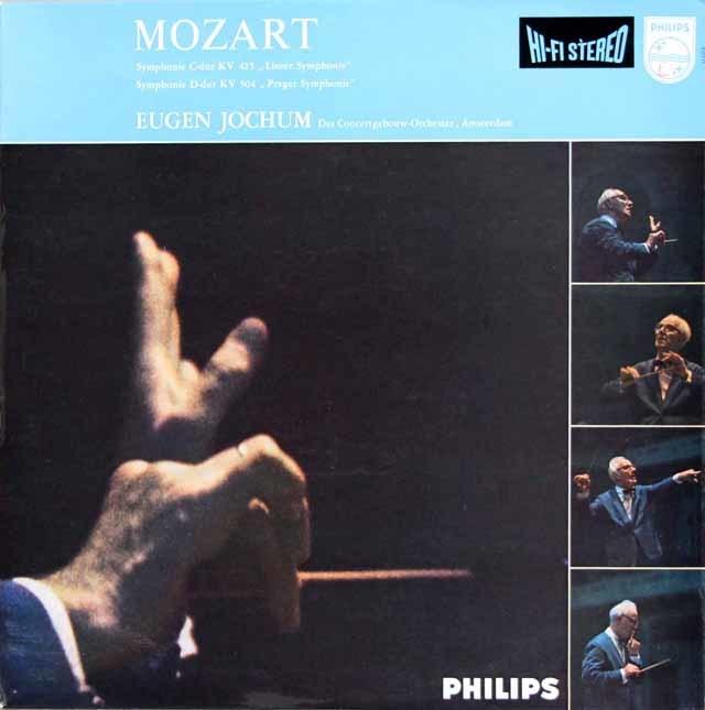 【オリジナル盤】 ヨッフムのモーツァルト/交響曲第36番「リンツ」&第38番「プラハ」 蘭PHILIPS 3212 LP レコード