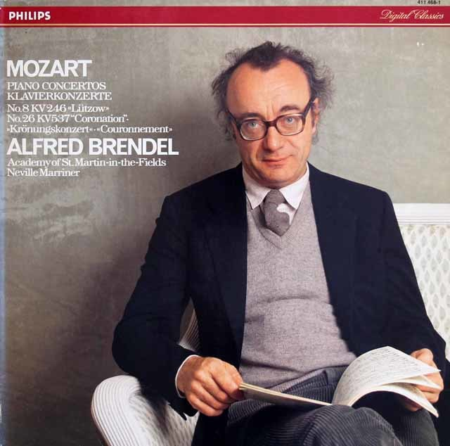 ブレンデルのモーツァルト/ピアノ協奏曲第8&26番「戴冠式」 蘭PHILIPS 3212 LP レコード