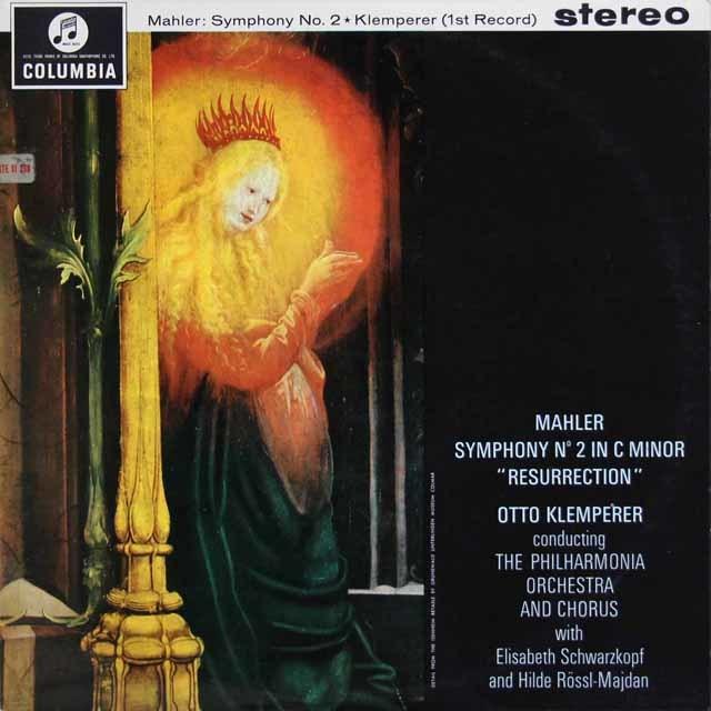 【オリジナル盤】 クレンペラーのマーラー/交響曲第2番「復活」 英Columbia 3212 LP レコード