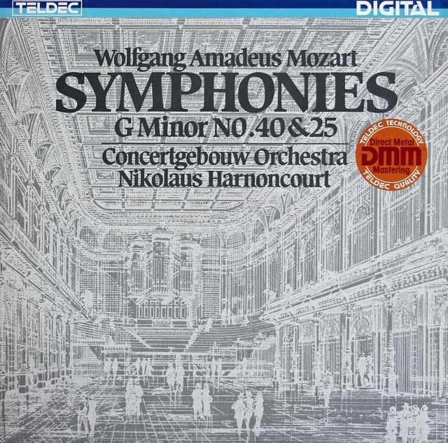 アーノンクールのモーツァルト/交響曲第40&25番 独TELDEC 3212 LP レコード