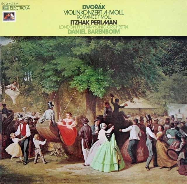 パールマン&バレンボイムのドヴォルザーク/ヴァイオリン協奏曲ほか 独EMI 3212 LP レコード