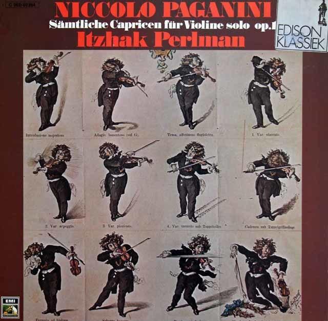 パールマンのパガニーニ/24の奇想曲 独EMI 3212 LP レコード