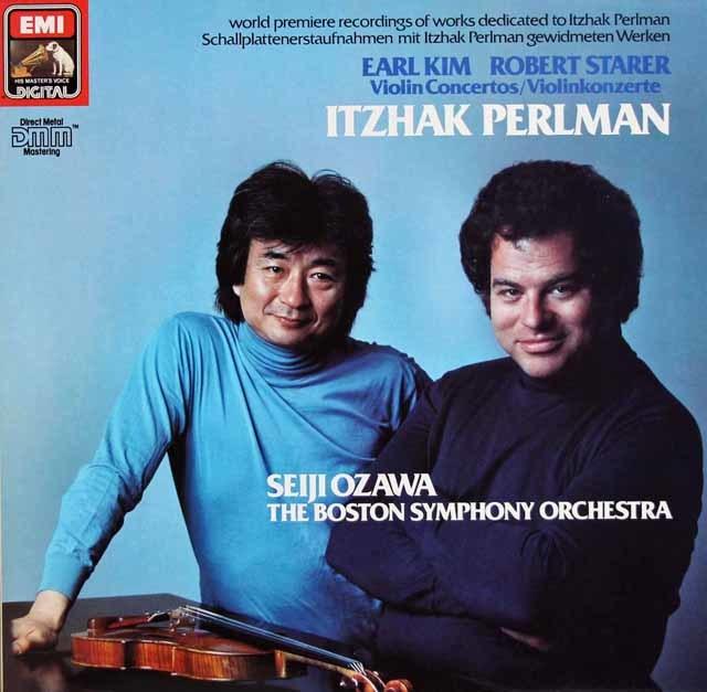 パールマン&小澤のキム&ステアラー/ヴァイオリン協奏曲集 独EMI 3212 LP レコード