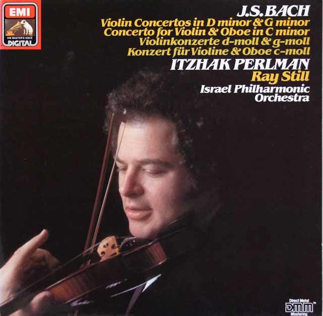 パールマンのバッハ/ヴァイオリン協奏曲ほか 独EMI 3212 LP レコード