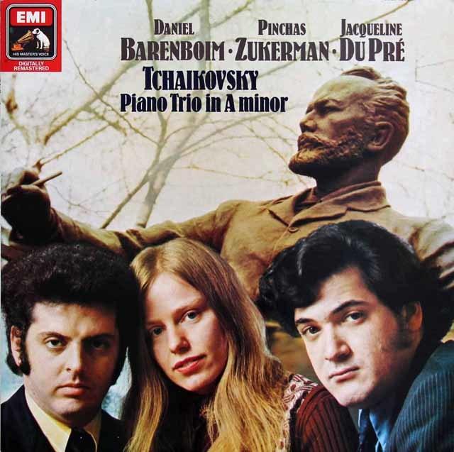【オリジナル盤】 デュ・プレ、バレンボイム、ズッカーマンのチャイコフスキー/ピアノ三重奏曲「偉大な芸術家の思い出」 独EMI 3212 LP レコード