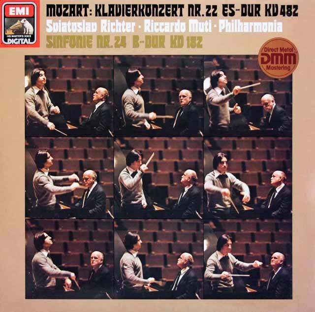 リヒテル&ムーティのモーツァルト/ピアノ協奏曲第22番ほか 独EMI 3212 LP レコード
